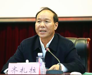 齐扎拉在陕看望西藏民族大学师生离退休老同志