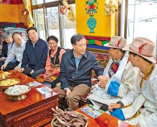 汪洋:堅持和貫徹新時代黨的治藏方略 推進西藏長治久安和高質量發展