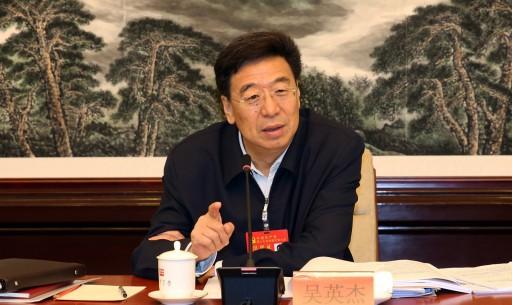 西藏代表團分組討論習近平同志報告 吳英杰主持